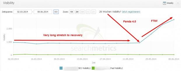 Google Panda 4.0 Success